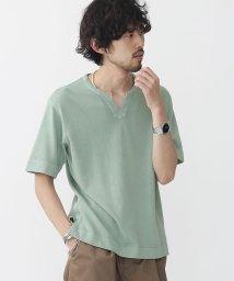 nano・universe///ピグメントキーネックTシャツ/500341622