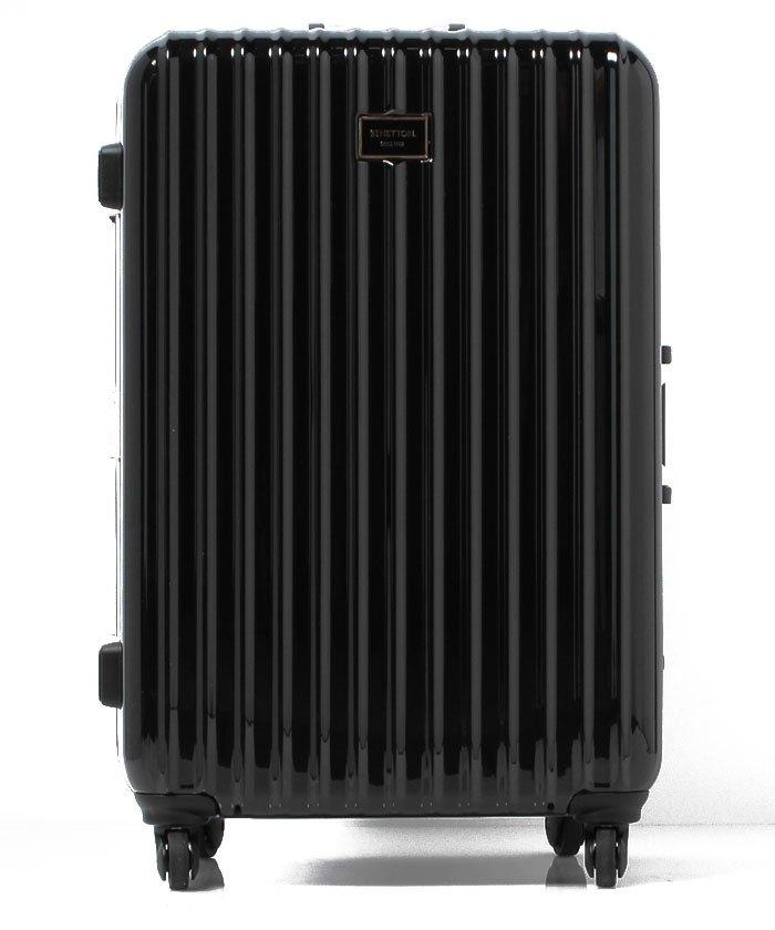 【50%OFF】 ベネトン(ユナイテッド カラーズ オブ ベネトン) 静走ラインキャリーケース・スーツケース容量約80L 静音 レディース ブラック FREE 【BENETTON (UNITED COLORS OF BENETTON)】 【セール開催中】