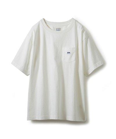 【haco!(ハコ)】Lee ロゴワッペンがかわいいポケットつきTシャツ
