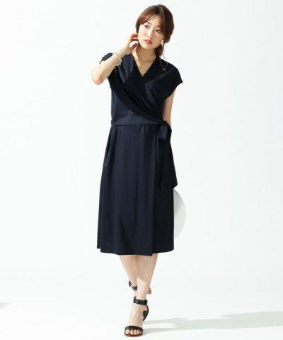 【NIJYUSANKU (LARGE SIZE)(23区(大きいサイズ))】【洗える!】エレガントポンチジャージー ワンピース