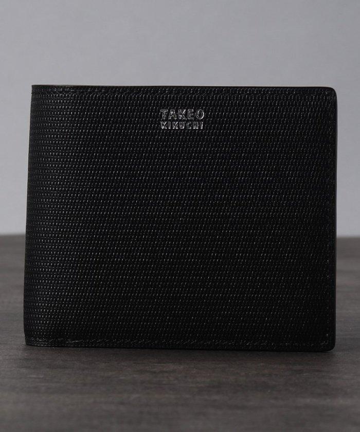 タケオキクチ ミニメッシュ2つ折り財布 [ メンズ 財布 サイフ 定番 二つ折り ギフト プレゼント ] メンズ ブラック(519) 00 【TAKEO KIKUCHI】