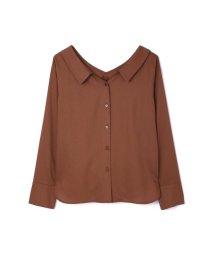 Pinky&Dianne/レーヨンドライツイルシャツカラーブラウス/500355152