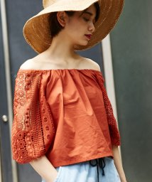 AZUL by moussy/オフショルレースTOPS/500337244