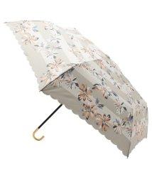 grove/ボーダーフラワー折り畳み傘(晴雨兼用)/500361513