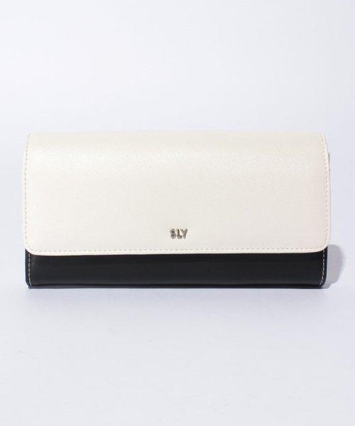 SLY(BAG)(スライ(バッグ))/【SLY】カブセロングウォレット/S09806206