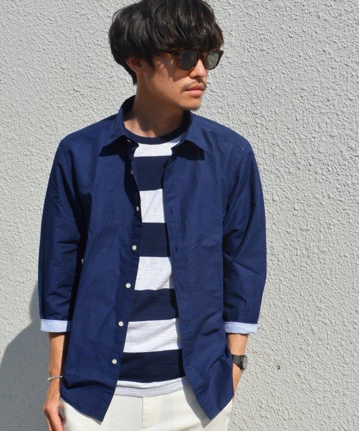 リネンシャツの定番色は、白、スカイブルー系、ネイビー系の3つ 画像1