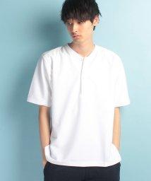 JUNRed/【WEB別注】カノコリブカラーTシャツ/500367676