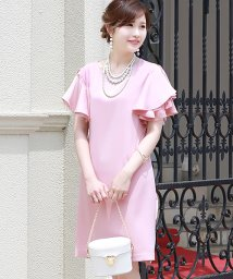 Bou Jeloud/【WEB限定】【結婚式・二次会・入学式】フレアスリット袖ドレス/500368176