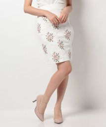 ROYAL PARTY/レース刺繍スカート/500350930
