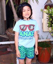 ANAP KIDS/サングラスプリントTシャツ+ロゴ柄パンツ SET UP/500369408