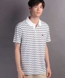 LACOSTE Mens/ボーダーポロシャツ (半袖)/500371907