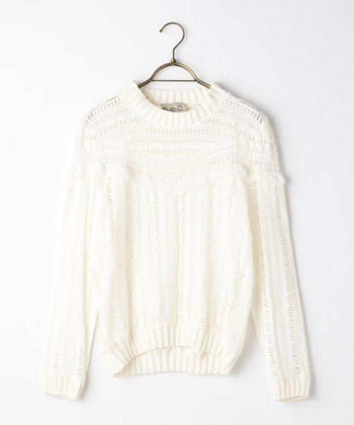NOLLEY'S(ノーリーズ)/S 【Sea New York/シー ニューヨーク】 Striped Gauze Sweater (RS16-111)/60206101002
