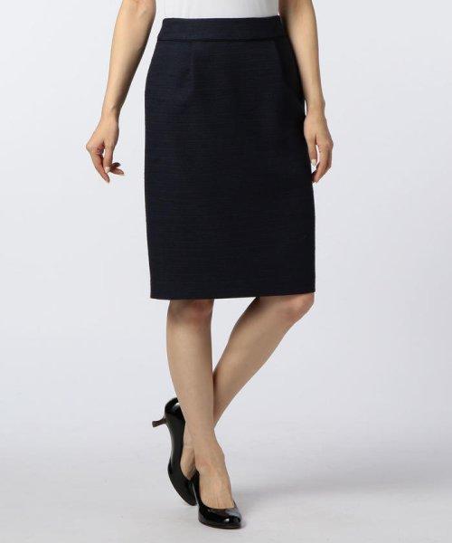 NOLLEY'S(ノーリーズ)/ドビーボーダータイトスカート/70055106001
