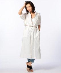 Rie Miller/タイプライターマキシ丈シャツ/500384889