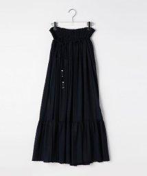 Ravissant Laviere/ストライプ刺繍シフォンスカート/500384982
