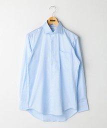 NOLLEY'S goodman/100/2 チドリワイドカラーシャツ/500385083