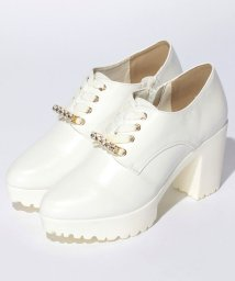 Shoes in Closet/パール付きレースアップパンプス/500378791