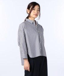 Rie Miller/GIZA ストライプシャツ/500384880