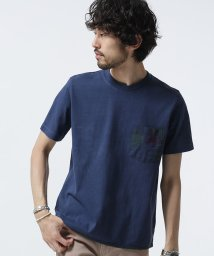nano・universe///異素材PKピグメントTシャツ/500380973