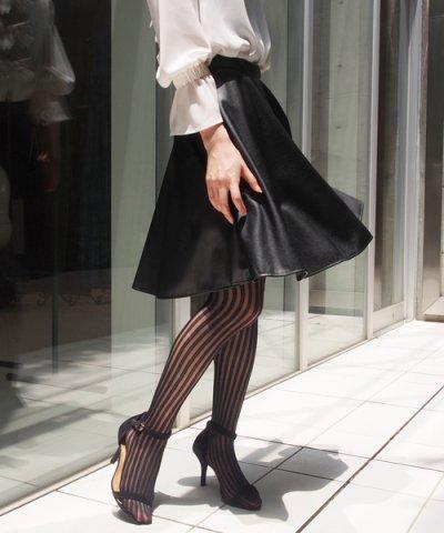 【UNIVERVAL MUSE(ユニバーバル ミューズ)】ライトフェイクレザー スカート