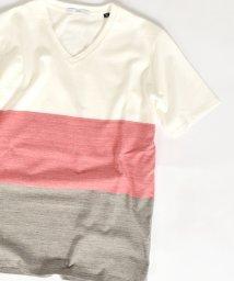 "SHIPS MEN/SC: ""MADE IN JAPAN"" マルチ ワイドボーダー Vネック Tシャツ/500217917"