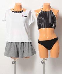 VacaSta Swimwear/【FILA】無地T・ショートパンツ付きビブトップ4点セット/500386629