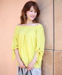 Bou Jeloud/袖リボン2WAYシルケットTOPS/500393911