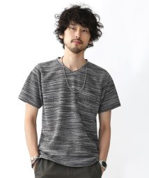 nano・universe///撚り杢WフェイスVネックTシャツ/500393047