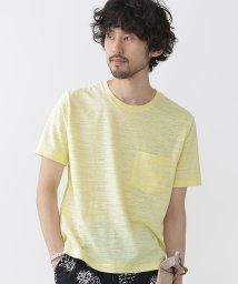 nano・universe///カラー杢クルーネックTシャツ/500393059