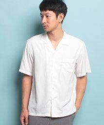JUNRed/オープンカラー五分袖シャツ/500399733