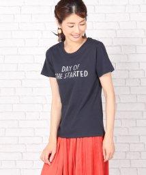 Bou Jeloud/オーロラ手描きロゴプリントTシャツ/500401742