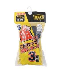 ZETT/ゼット/3Pカラーソックス/500406146