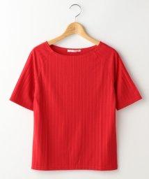 Ray Cassin /ワイドリブボートネック5分袖Tシャツ/500407709