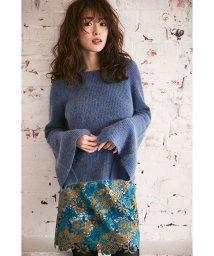 MIIA/刺繍レースタイトスカート/500410195