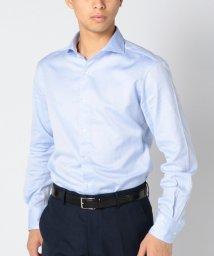 SHIPS MEN/SD: 【GIZAコットン】 ウォッシュド ソリッド ライトブルー ホリゾンタルカラーシャツ/500411540