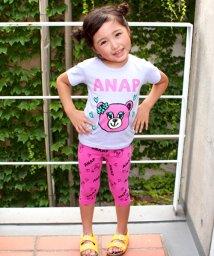 ANAP KIDS/くまTシャツ+レギンス(6分丈) SET UP/500407073