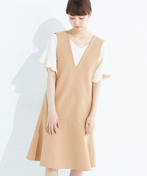 haco!(ハコ)/パッと着て今気分&長い季節着られる すそフレアージャンパースカート/636378
