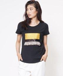 VICKY/グリッターフリンジモチーフTシャツ/500414900