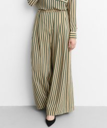 URBAN RESEARCH/【Lirica】Silk Stripe Wide Pants/500412412