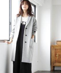 coen/【先行販売】ライトメルトンチェスターコート(ブラック /ベージュ/ ライトブルー ⇒ WEB限定カラー)/500417629