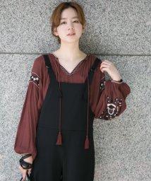 URBAN RESEARCH/楊柳ボヘミアン刺繍ブラウス/500419175