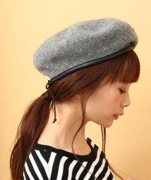 ViS/【sweet10月号掲載】パイピングフェルトベレー帽/500424968