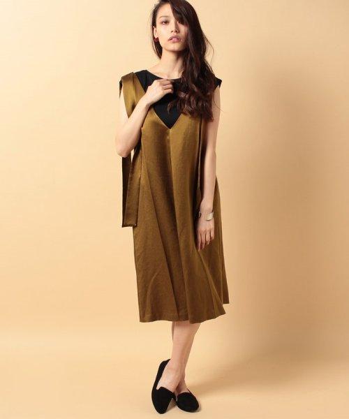 beautiful people(ビューティフルピープル)/s/w satin sffold dress/1745104007