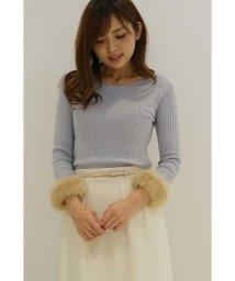 PROPORTION BODY DRESSING/袖口ファーワイドリブニット/500425622