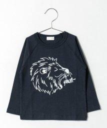 b-ROOM/ライオンプリントラグランTシャツ/500419943