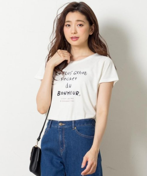 any SiS S(エニスィス(小さいサイズ))/Frenchロゴ Tシャツ/KKWQHA0807