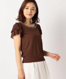 MISCH MASCH/透かし編み袖フリルニット/500413320