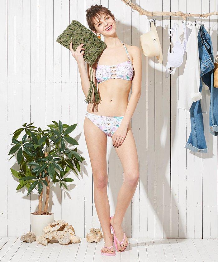 61b9b4be792924 SEA DRESS(シードレス)/ロマンティックフラワーカットアウトバンドゥビキニ/水着/DPJR0334