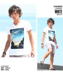 improves/半袖VネックプリントTシャツ/500426834