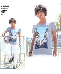 improves/半袖UネックプリントTシャツ/500426835